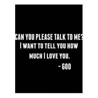 Can You Talk To Me Postcard