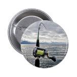 Caña de pescar de color salmón pins