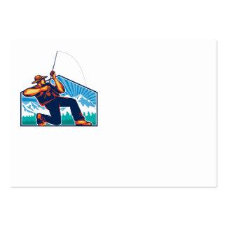 Caña de pescar de vacilación del pescador de la mo plantillas de tarjeta de negocio