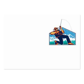 Caña de pescar de vacilación del pescador de la mo tarjeta personal