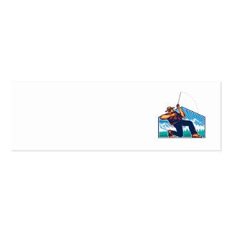 Caña de pescar de vacilación del pescador de la mo tarjeta de visita