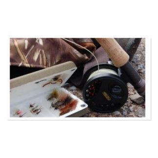 Caña de pescar y carrete de Flly Plantilla De Tarjeta De Visita