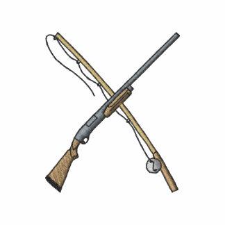 Caña de pescar y escopeta