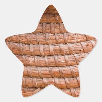 Caña en espiral pegatina en forma de estrella