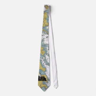 Cana Island Lighthouse Chart Tie