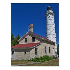 Cana Island Lighthouse Postcard at Zazzle