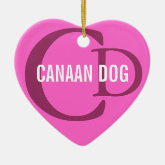 Canaan Dog Breed Monogram Ceramic Ornament