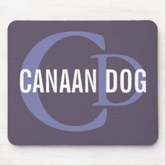 Canaan Dog Breed Monogram Mouse Pad