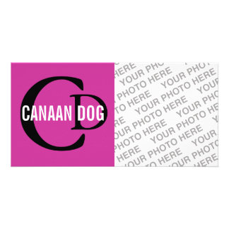 Canaan Dog Breed Monogram Photo Cards