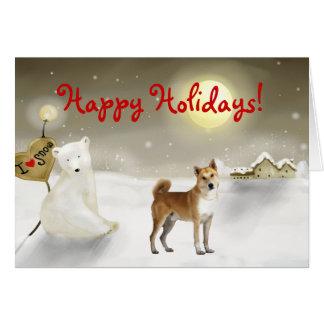 Canaan Dog Holiday Card