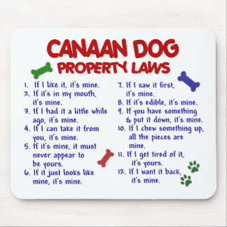 CANAAN DOG Property Laws 2 Mouse Pad