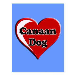 Canaan en el corazón para los amantes del perro postales