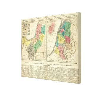 Canaan - Israel Atlas Map Canvas Prints