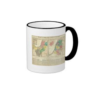 Canaan - Israel Atlas Map Ringer Coffee Mug