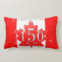 Canada 150 Birthday Celebration Maple Leaf Lumbar Pillow