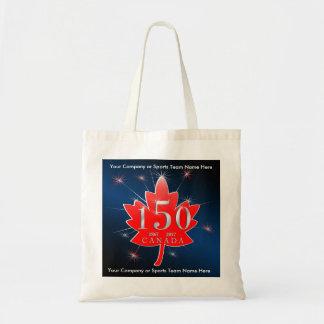 Canada 150 Birthday Celebration Maple Leaf Tote Bag