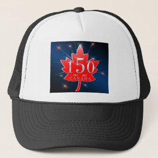 Canada 150 commemorative Maple Leaf Celebration Trucker Hat