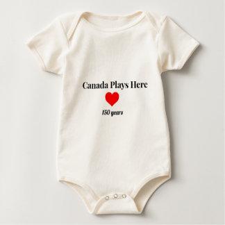 Canadá 150 en 2017 Canadá juega aquí Body Para Bebé