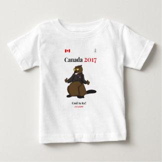 Canadá 150 en 2017 fresco como hielo playera de bebé