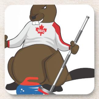 Canada 150 in 2017 Beaver Curling Main Coaster