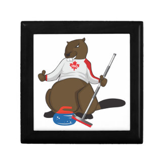 Canada 150 in 2017 Beaver Curling Main Jewelry Box