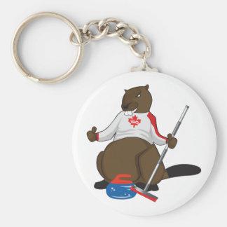 Canada 150 in 2017 Beaver Curling Main Keychain