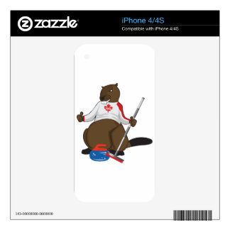 Canada 150 in 2017 Beaver Curling Main Skin For The iPhone 4