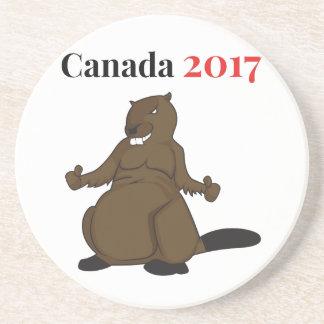 Canada 150 in 2017 Beaver Drink Coaster