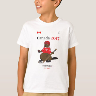 Canada 150 in 2017 Beaver Hockey Cool Ice T-Shirt