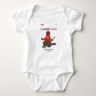 Canada 150 in 2017 Beaver Hockey Go Canada Baby Bodysuit