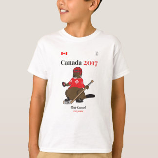 Canada 150 in 2017 Beaver Hockey Our Game T-Shirt