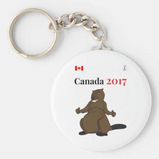 Canada 150 in 2017 Beaver Keychain