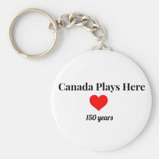Canada 150 in 2017 Canada Plays Here Keychain