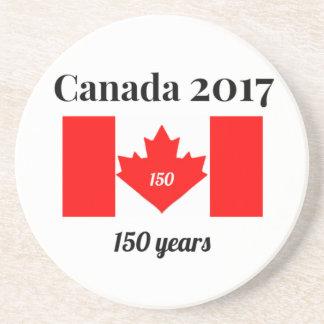 Canada 150 in 2017 Heart Flag Coaster