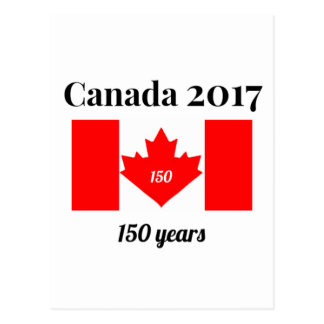 Canada 150 in 2017 Heart Flag Postcard