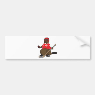 Canada 150 in 2017 Hockey Beaver Bumper Sticker