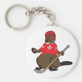 Canada 150 in 2017 Hockey Beaver Keychain