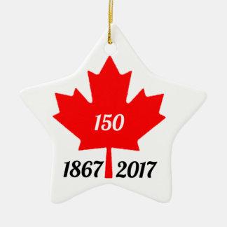 Canada 150 in 2017 maple leaf ceramic ornament
