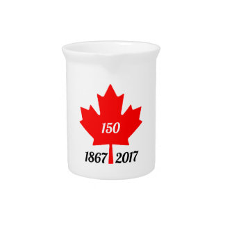 Canada 150 in 2017 maple leaf drink pitcher