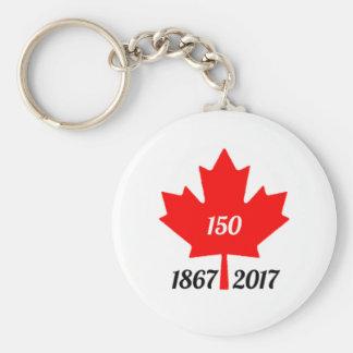 Canada 150 in 2017 maple leaf keychain