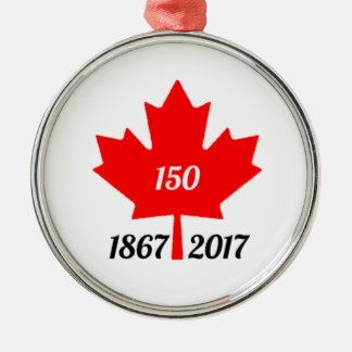 Canada 150 in 2017 maple leaf metal ornament