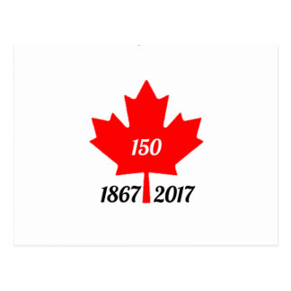 Canada 150 in 2017 maple leaf postcard