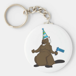 Canada 150 in 2017 Party Beaver Merchandise Keychain