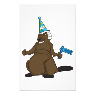 Canada 150 in 2017 Party Beaver Merchandise Stationery