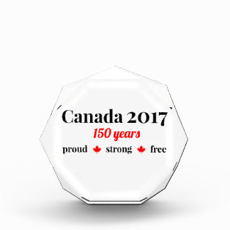 Canada 150 in 2017 Proud and Free Acrylic Award