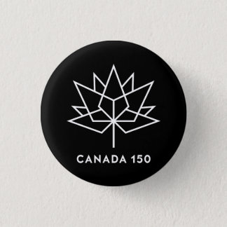Canada 150 Official Logo - Black and White Pinback Button