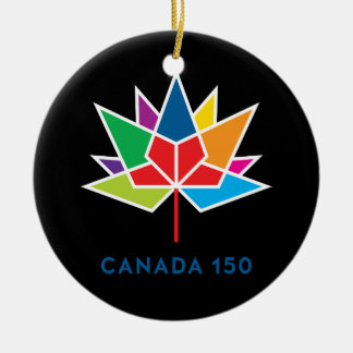 Canada 150 Official Logo - Multicolor and Black Ceramic Ornament