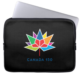 Canada 150 Official Logo - Multicolor and Black Computer Sleeve