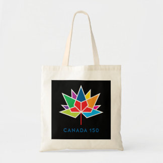 Canada 150 Official Logo - Multicolor and Black Tote Bag