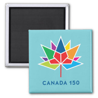 Canada 150 Official Logo - Multicolor and Blue Magnet